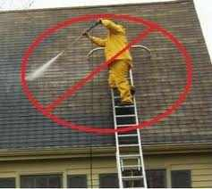 Do not Pressure Wash roofs